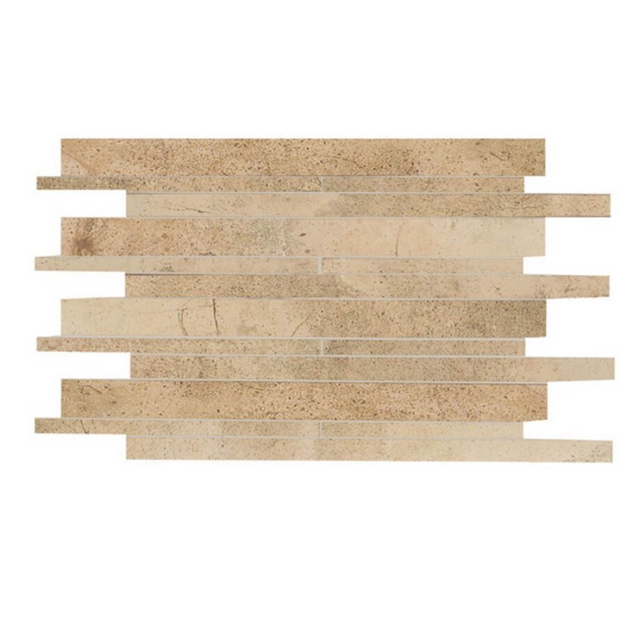 Shop American Olean Costa Rei Oro Miele Mosaic Ceramic Wall Tile Common 12 In X 14 In Actual