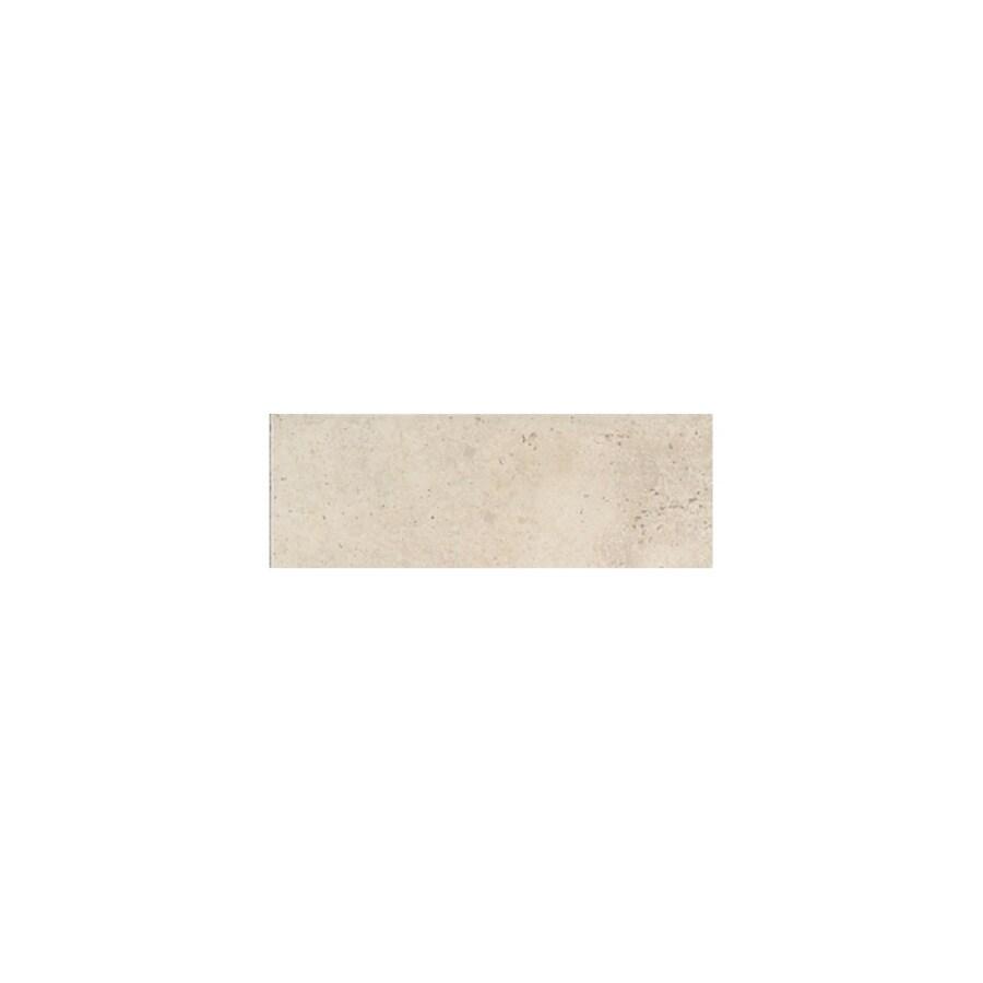 American Olean Costa Rei Pietre Bianca Ceramic Bullnose Tile (Common: 3-in x 12-in; Actual: 3-in x 11.81-in)