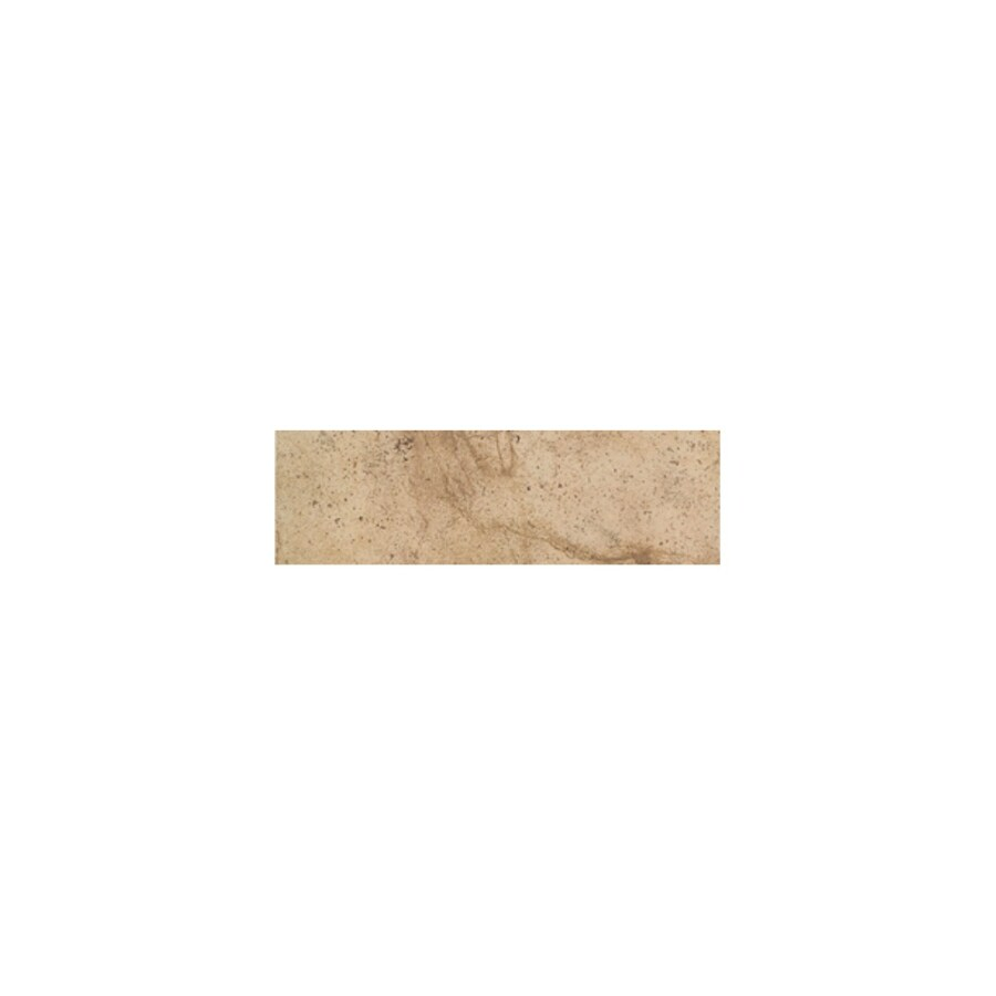American Olean Costa Rei Oro Miele Ceramic Bullnose Tile (Common: 3-in x 12-in; Actual: 3-in x 11.81-in)