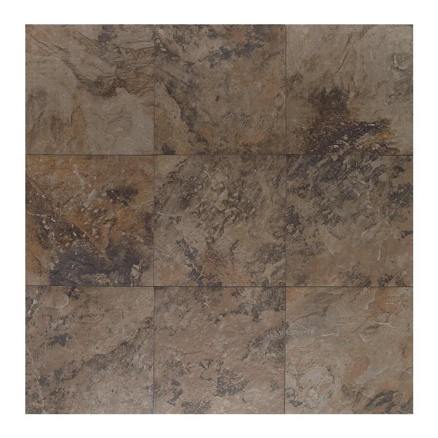 American Olean 14-Pack Amber Valley Derby Brown Glazed Porcelain Indoor/Outdoor Floor Tile (Common: 13-in x 13-in; Actual: 13.12-in x 13.12-in)