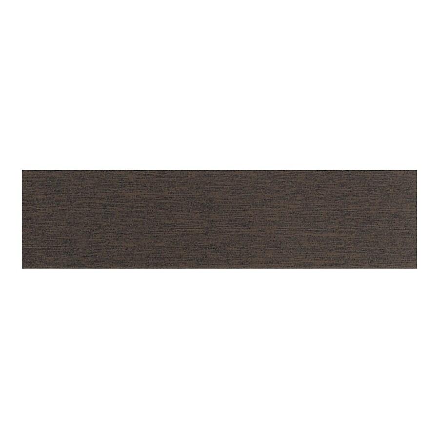 American Olean St Germain Chocolate Thru Body Porcelain Bullnose Tile (Common: 3-in x 12-in; Actual: 2.87-in x 11.5-in)