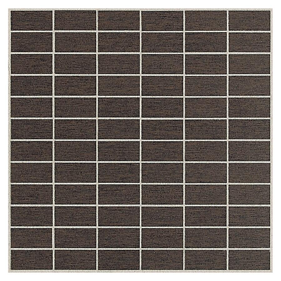 American Olean St Germain 11-Pack Chocolat Brick Mosaic Thru Body Porcelain Floor and Wall Tile (Common: 12-in x 12-in; Actual: 11.5-in x 11.5-in)