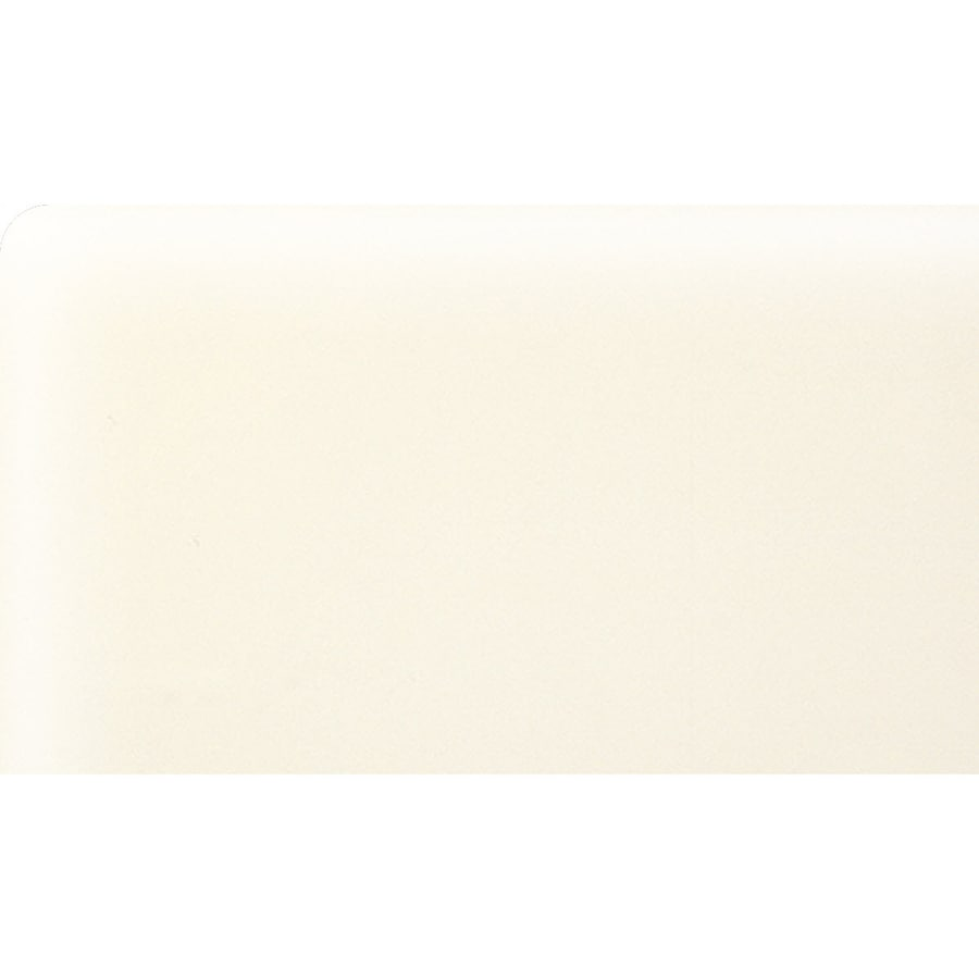 American Olean Bright Biscuit Ceramic Bullnose Corner Tile (Common: 3-in x 6-in; Actual: 3-in x 6-in)