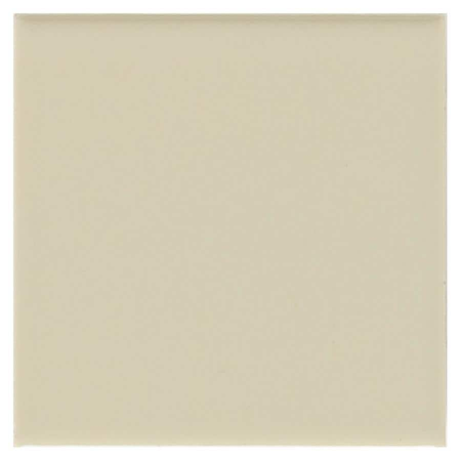 American Olean Bright 100-Pack Sand Dollar Ceramic Wall Tile (Common: 4-in x 4-in; Actual: 4.25-in x 4.25-in)
