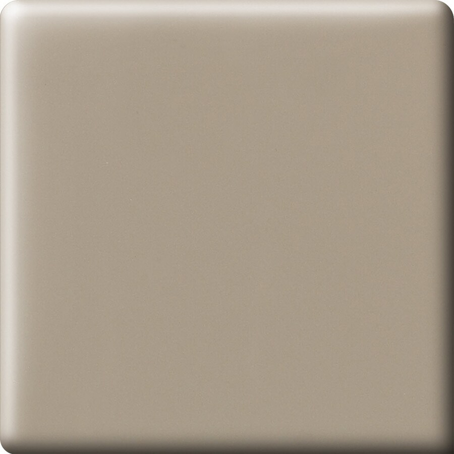 American Olean Matte Mushroom Ceramic Bullnose Corner Tile (Common: 6-in x 6-in; Actual: 6-in x 6-in)