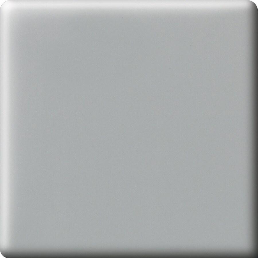 American Olean Matte Light Smoke Ceramic Bullnose Corner Tile (Common: 6-in x 6-in; Actual: 6-in x 6-in)