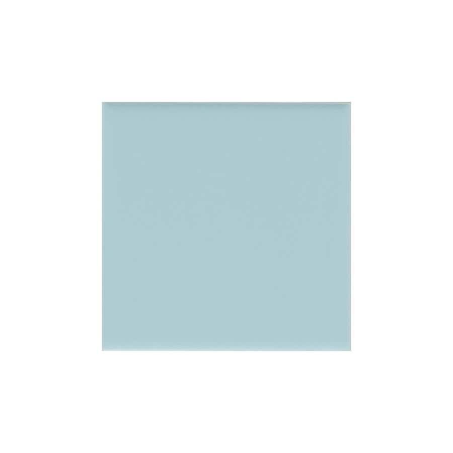 American Olean Matte Glacier Matte Ceramic Bullnose Corner Tile (Common: 6-in x 6-in; Actual: 6-in x 6-in)