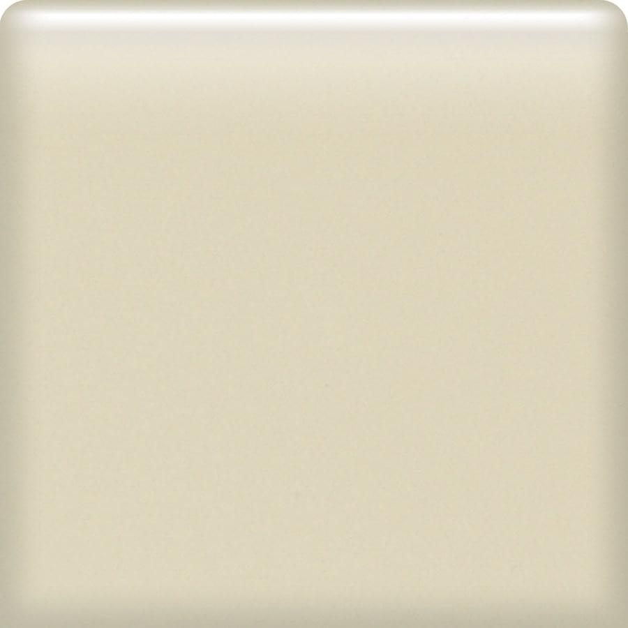 American Olean Matte Sand Dollar Ceramic Bullnose Corner Tile (Common: 4-in x 4-in; Actual: 4.25-in x 4.25-in)