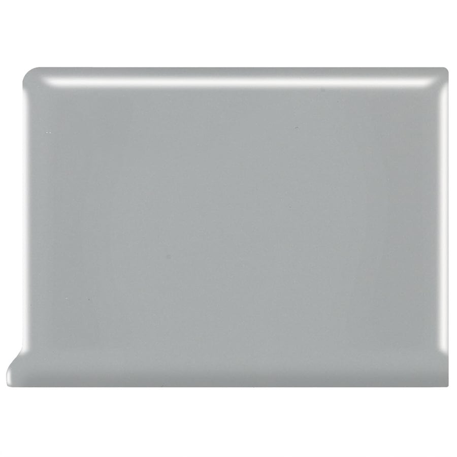 American Olean Bright Light Smoke Ceramic Cove Base Tile (Common: 6-in x 6-in; Actual: 6-in x 6-in)
