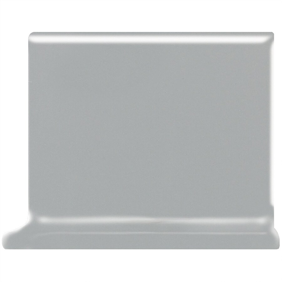 American Olean Matte Light Smoke Ceramic Cove Base Tile (Common: 4-in x 4-in; Actual: 4.25-in x 4.25-in)