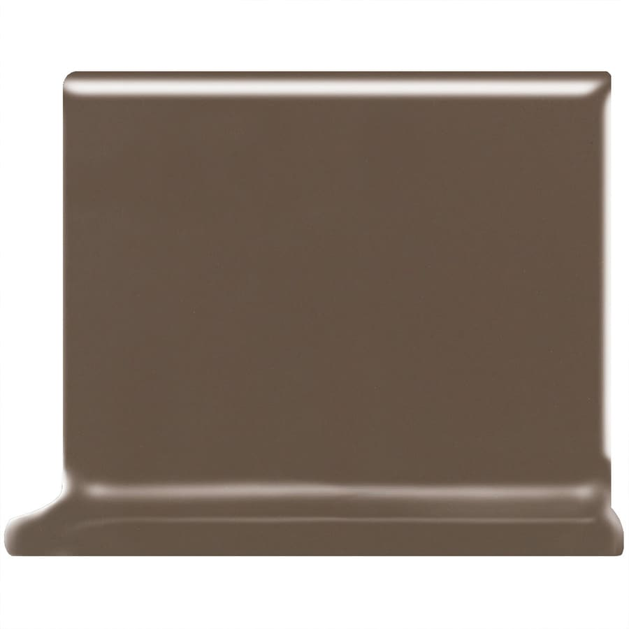 American Olean Bright Nutmeg Ceramic Cove Base Tile (Common: 4-in x 4-in; Actual: 4.25-in x 4.25-in)