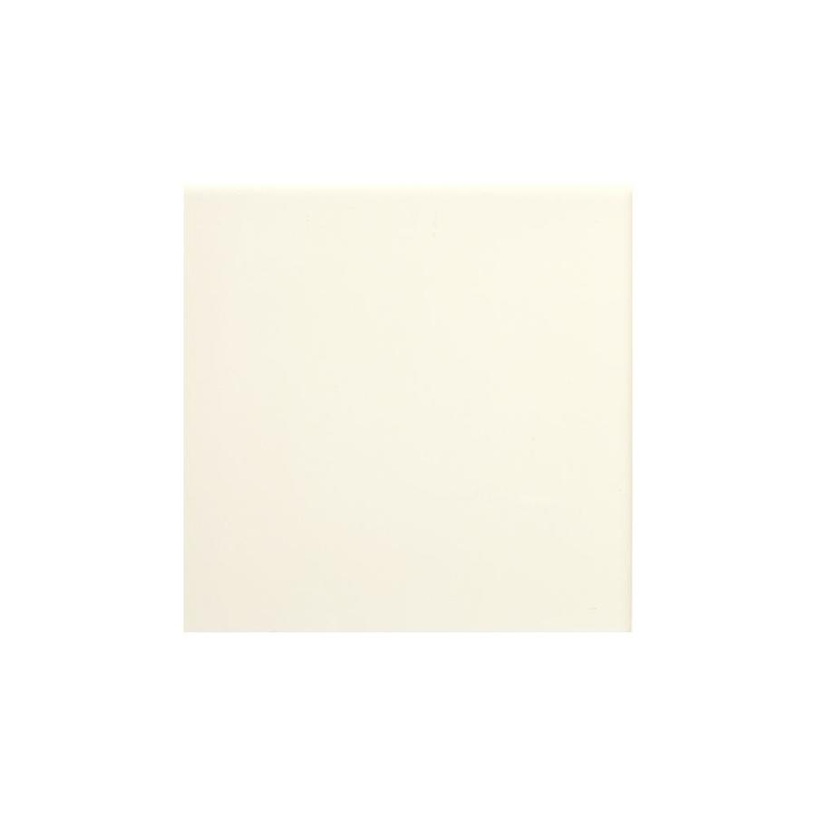 American Olean Bright Biscuit Gloss Ceramic Mud Cap Tile (Common: 6-in x 6-in; Actual: 6-in x 6-in)
