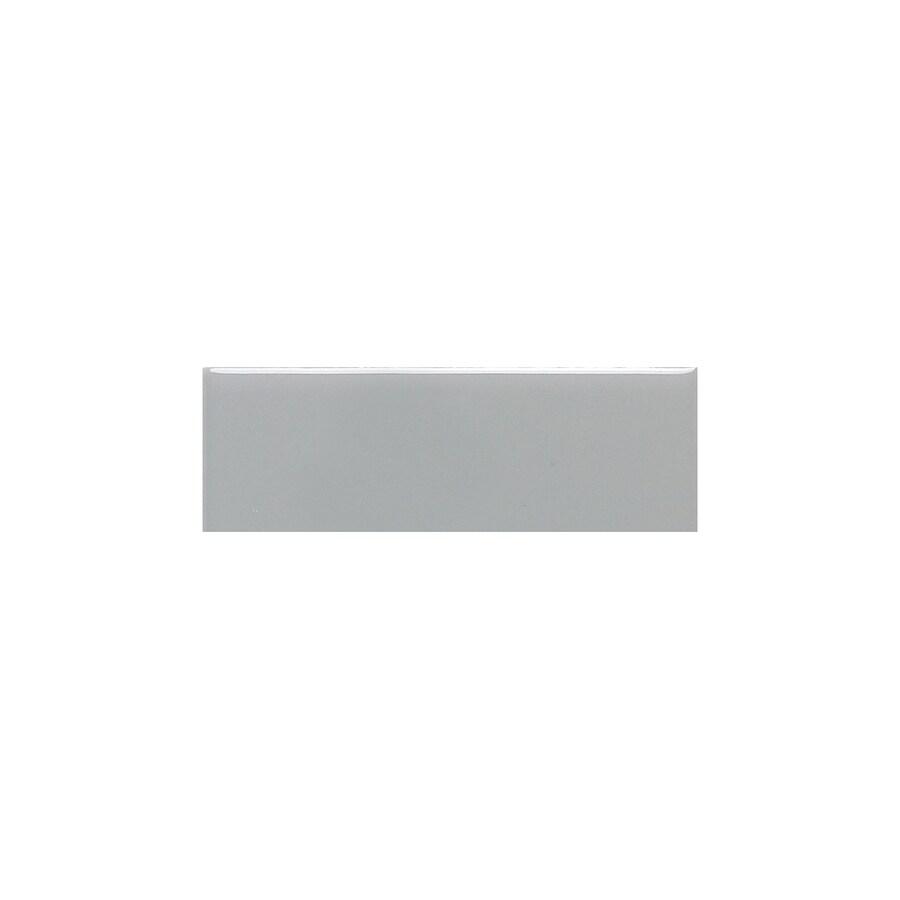 American Olean Bright Light Smoke Gloss Ceramic Bullnose Tile (Common: 2-in x 6-in; Actual: 2-in x 6-in)