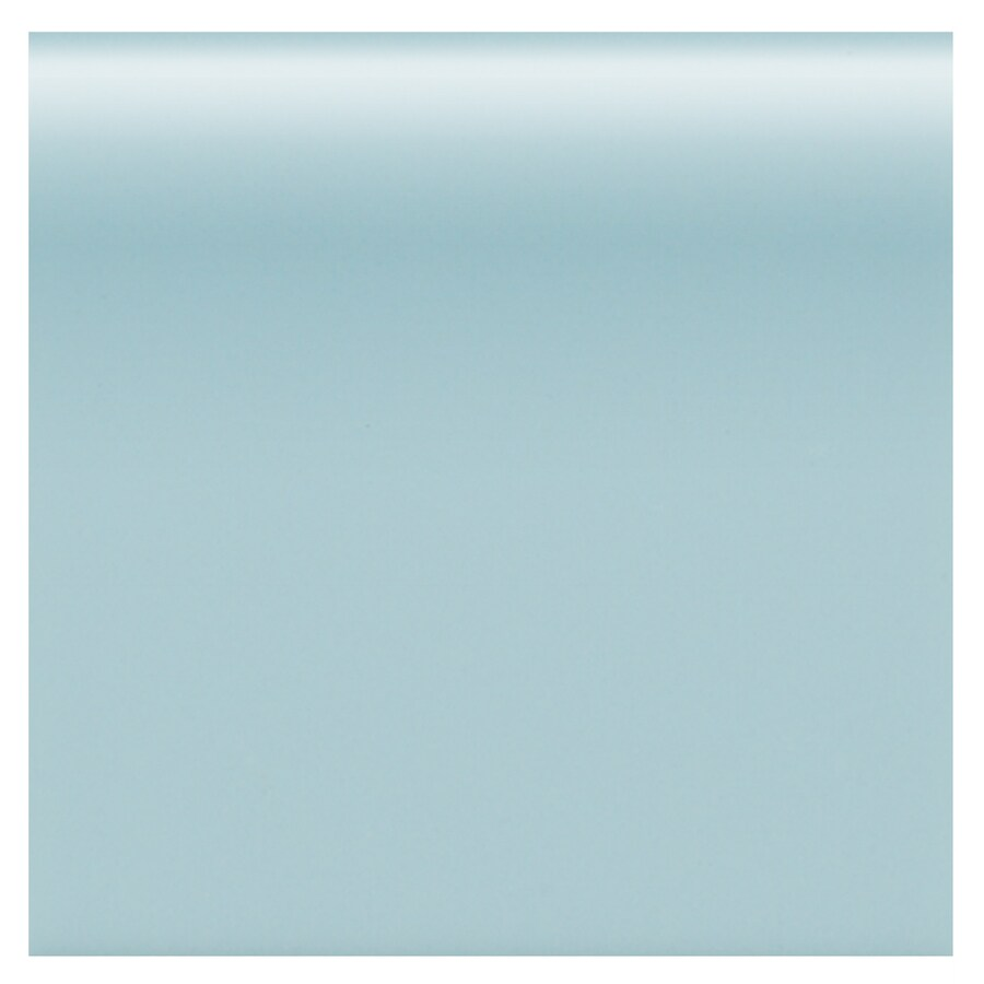 American Olean Matte Glacier Matte Ceramic Bullnose Tile (Common: 4-in x 4-in; Actual: 4.25-in x 4.25-in)