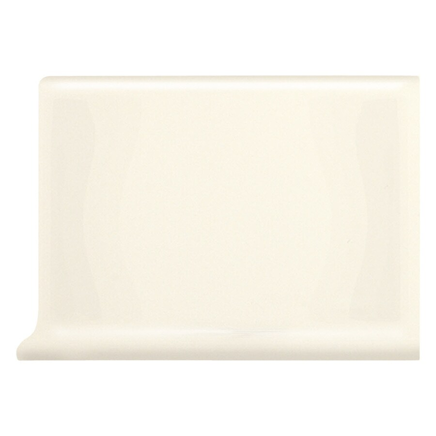 American Olean Bright Biscuit Ceramic Cove Base Tile (Common: 4-in x 6-in; Actual: 4.25-in x 6-in)