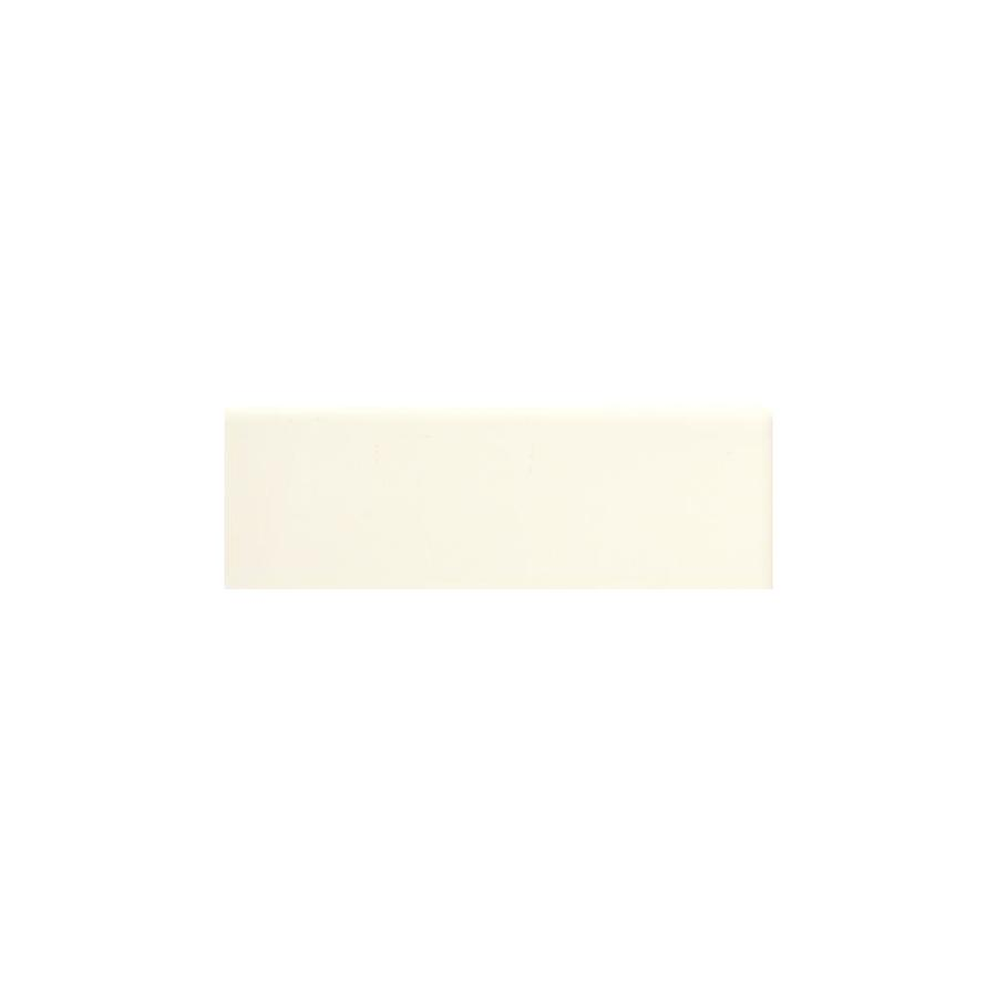 American Olean Bright Biscuit Gloss Ceramic Bullnose Tile (Common: 2-in x 6-in; Actual: 2-in x 6-in)