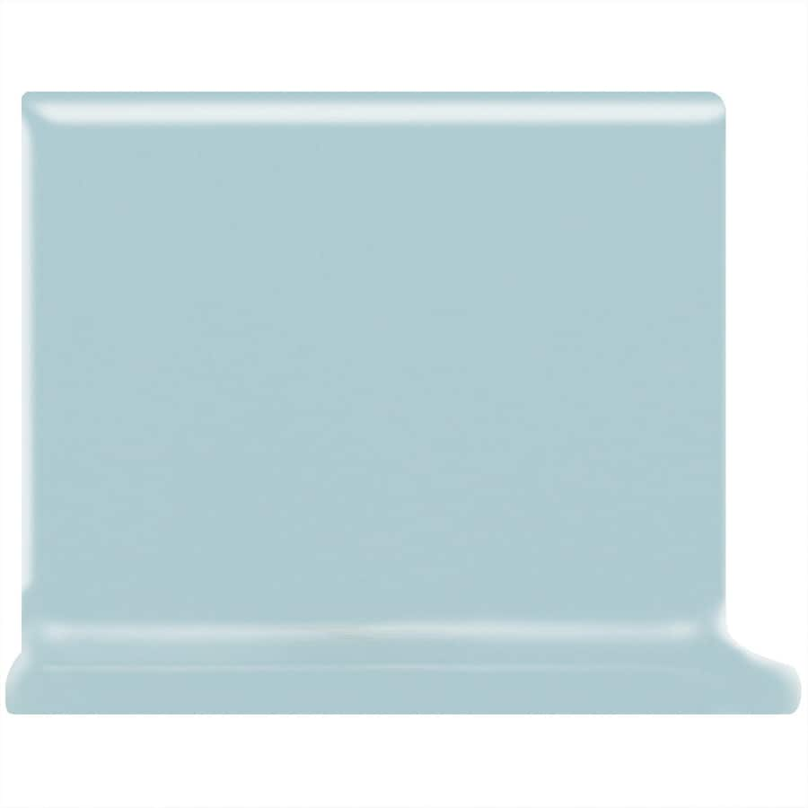 American Olean Matte Glacier Ceramic Cove Base Tile (Common: 4-in x 4-in; Actual: 4.25-in x 4.25-in)