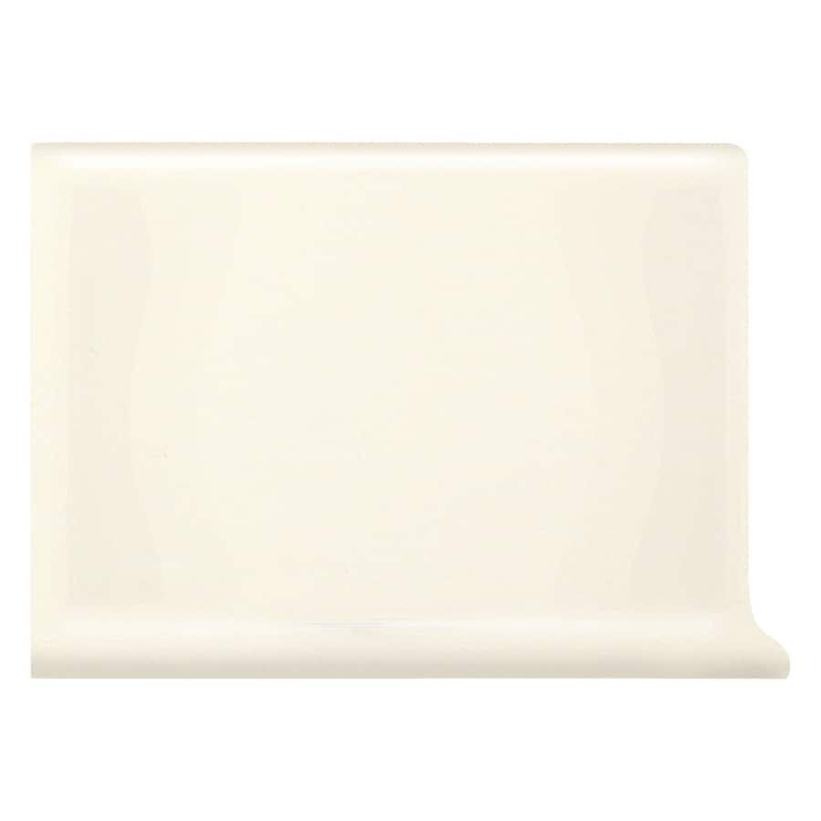 American Olean Matte Biscuit Ceramic Cove Base Tile (Common: 4-in x 6-in; Actual: 4.25-in x 6-in)