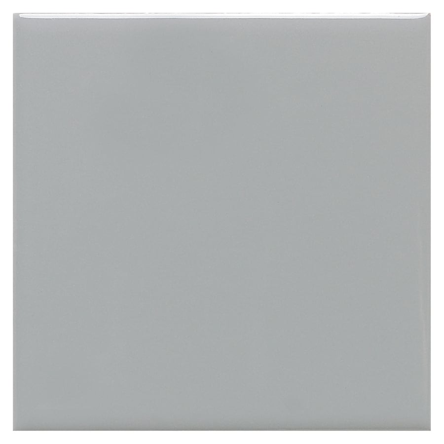 American Olean Satinbrite 15-Pack Light Smoke Uniform Squares Mosaic Ceramic Floor and Wall Tile (Common: 12-in x 24-in; Actual: 12-in x 24-in)