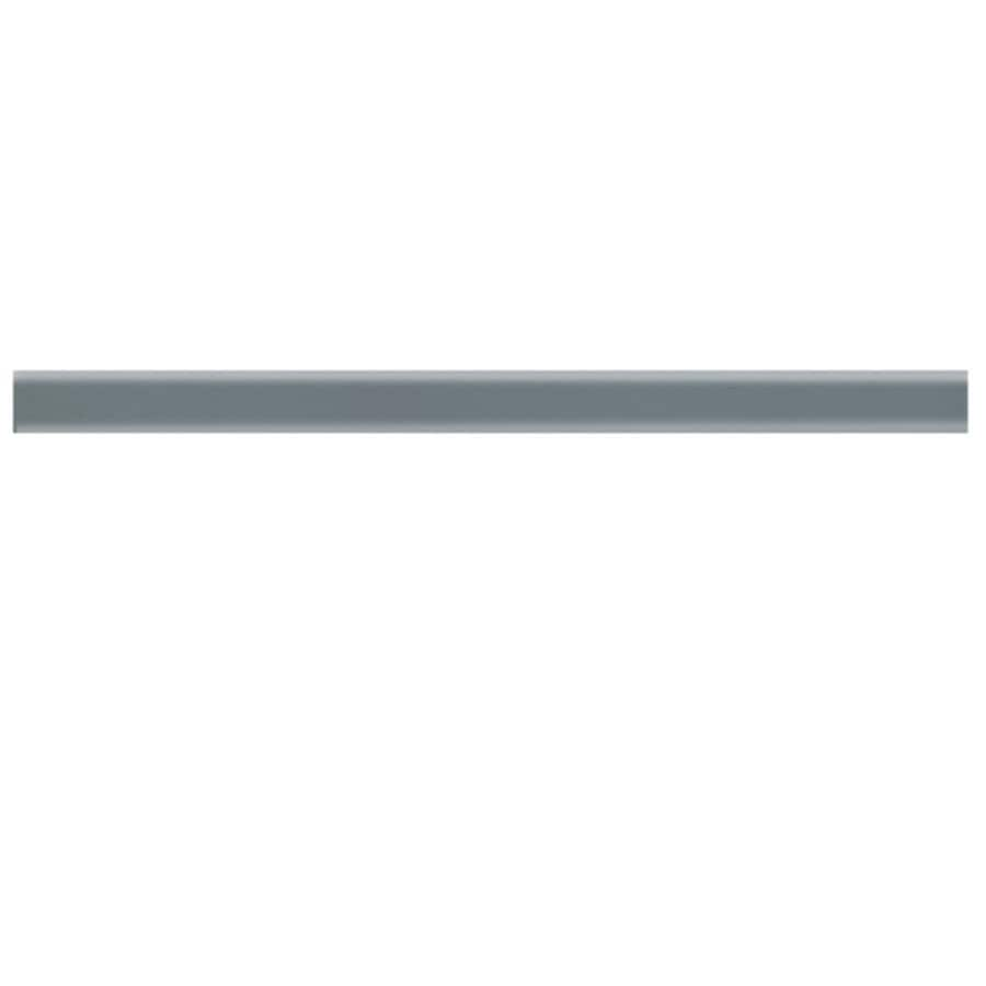 American Olean Linea Storm Gray Ceramic Pencil Liner Tile (Common: 1-in x 12-in; Actual: 0.75-in x 12.75-in)