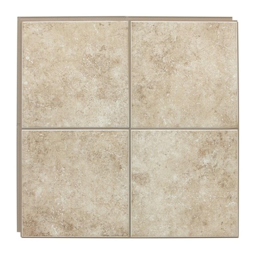 """American Olean 12"""" x 12"""" Stilelock Cream Glazed Porcelain Floor Tile"""