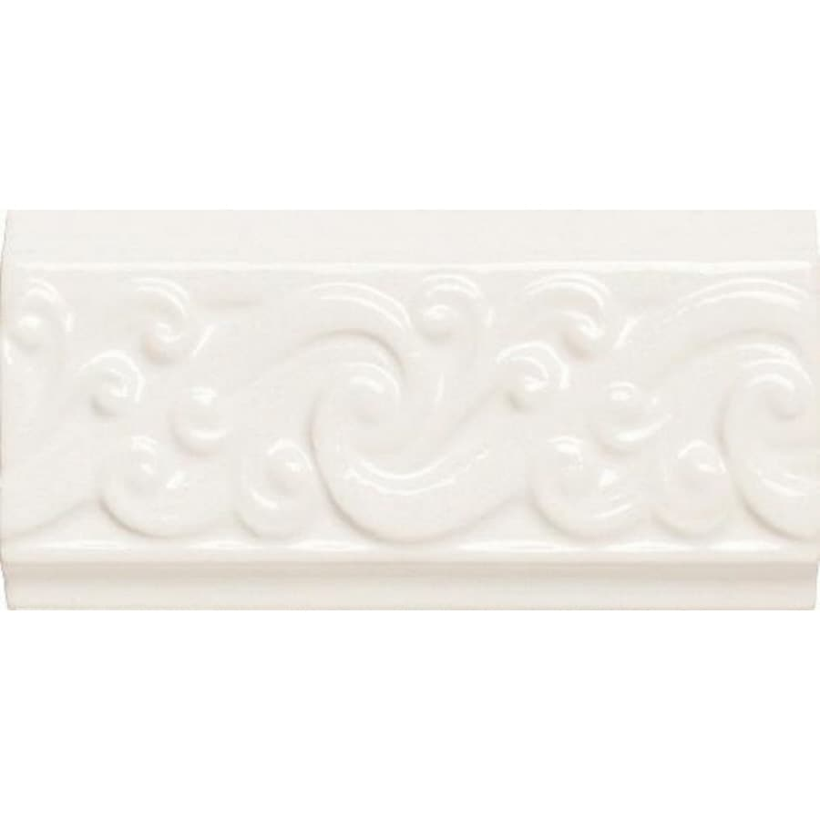 American Olean Designer Elegance Ice White Ceramic Listello Tile (Common: 3-in x 6-in; Actual: 3-in x 6-in)