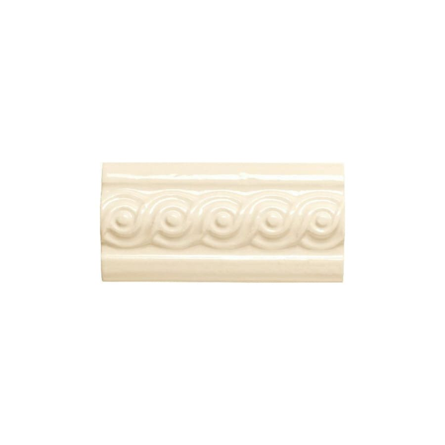 American Olean Designer Elegance Biscuit Ceramic Listello Tile (Common: 3-in x 6-in; Actual: 3-in x 6-in)