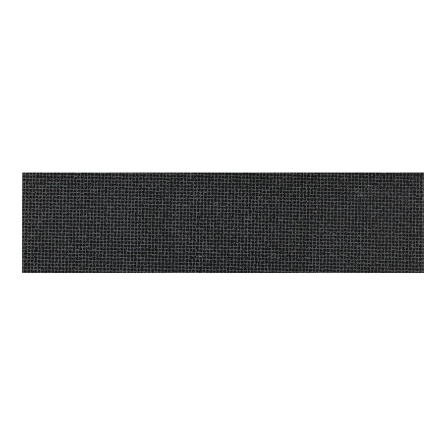 American Olean 3-in x 12-in Nouveau Abstract Black Thru Body Porcelain Bullnose Tile