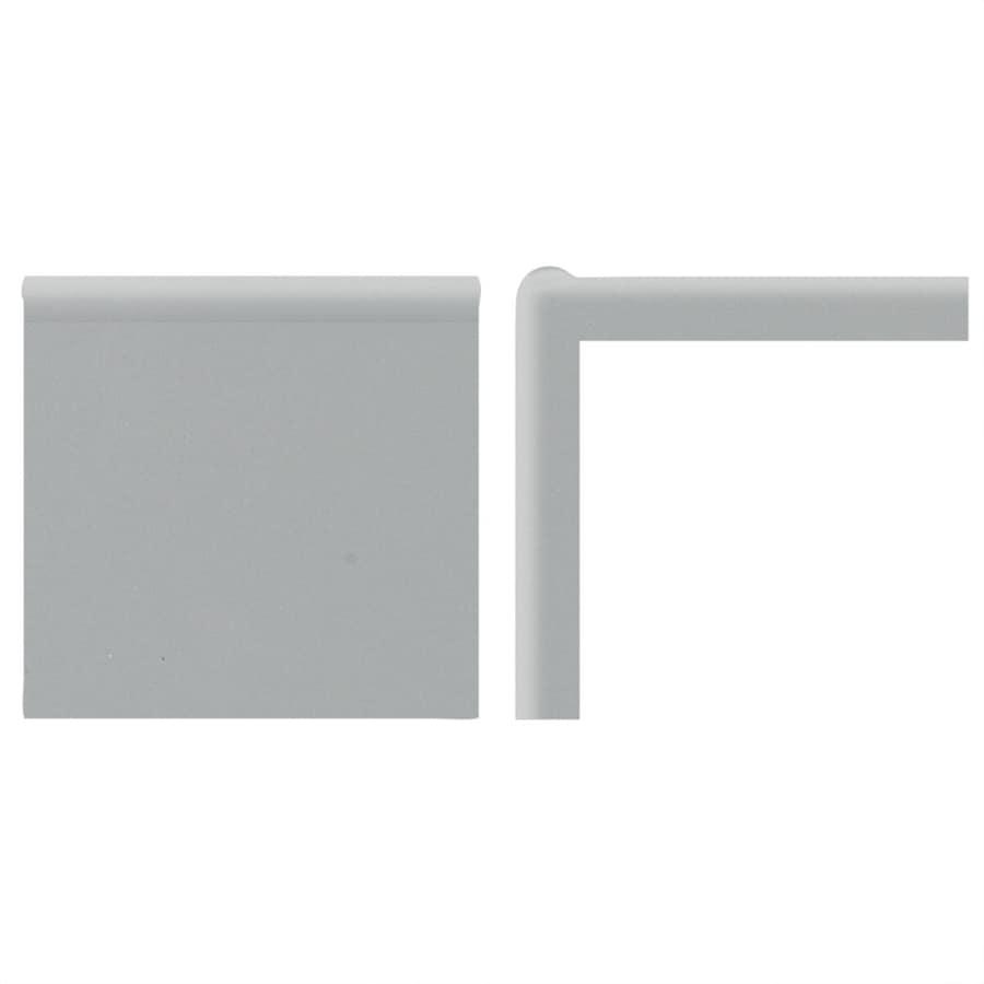 American Olean Bright Light Smoke Ceramic Mud Cap Corner Tile (Common: 2-in x 2-in; Actual: 2-in x 2-in)