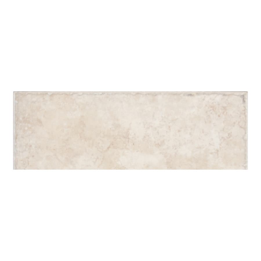 American Olean Treymont Sand Porcelain Bullnose Tile (Common: 3-in x 12-in; Actual: 2.95-in x 11.81-in)