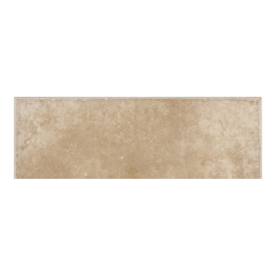 American Olean Treymont Willow Porcelain Bullnose Tile (Common: 3-in x 12-in; Actual: 2.95-in x 11.81-in)