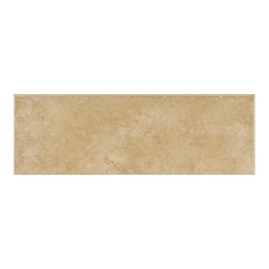American Olean Treymont Wheat Porcelain Bullnose Tile (Common: 3-in x 12-in; Actual: 2.95-in x 11.81-in)
