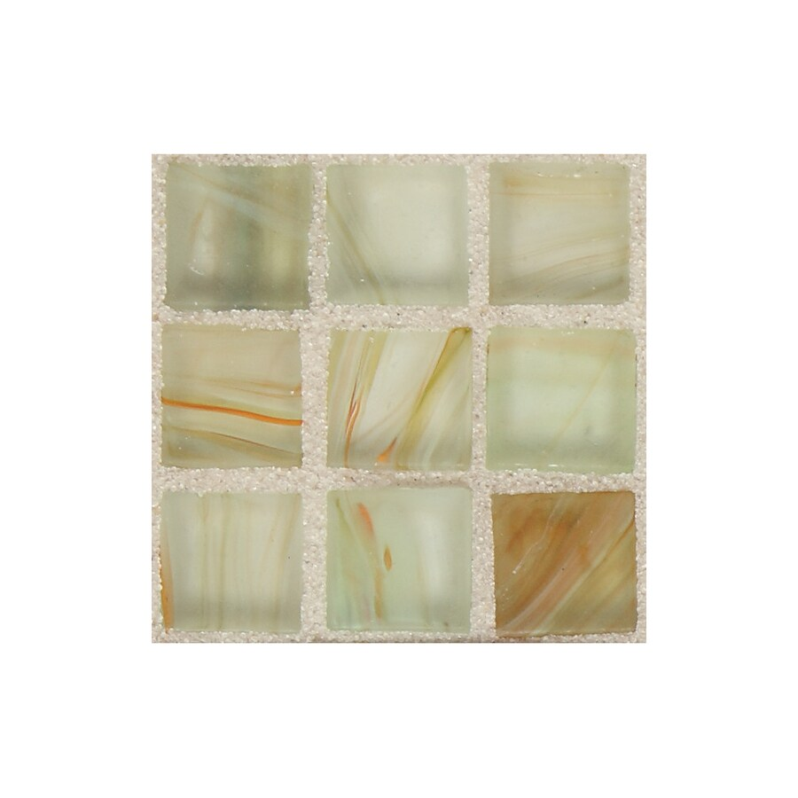 American Olean Visionaire Tranquil Spa Uniform Squares Mosaic Glass Wall Tile (Common: 13-in x 13-in; Actual: 12.87-in x 12.87-in)