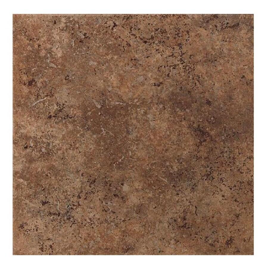 American Olean 8-Pack Vallano Dark Chocolate Glazed Porcelain Indoor/Outdoor Floor Tile (Common: 18-in x 18-in; Actual: 17.75-in x 17.75-in)