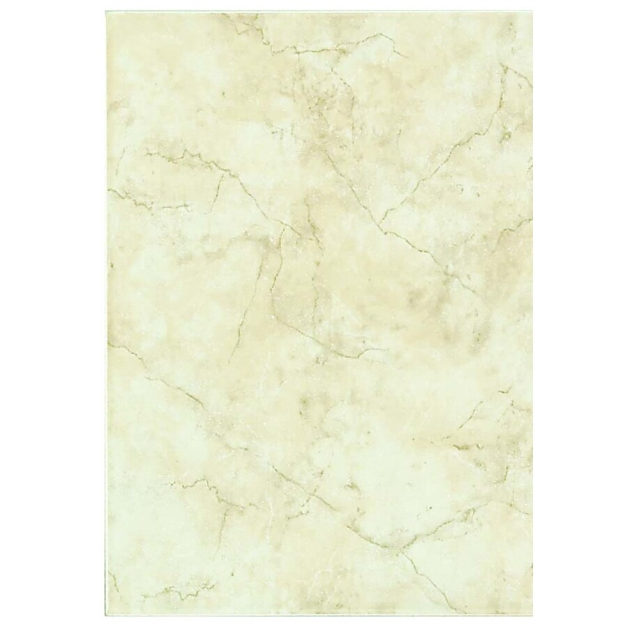 Style Selections Lantana Cream Ceramic Wall Tile (Common: 9-in x 12-in; Actual: 8.39-in x 11.93-in)