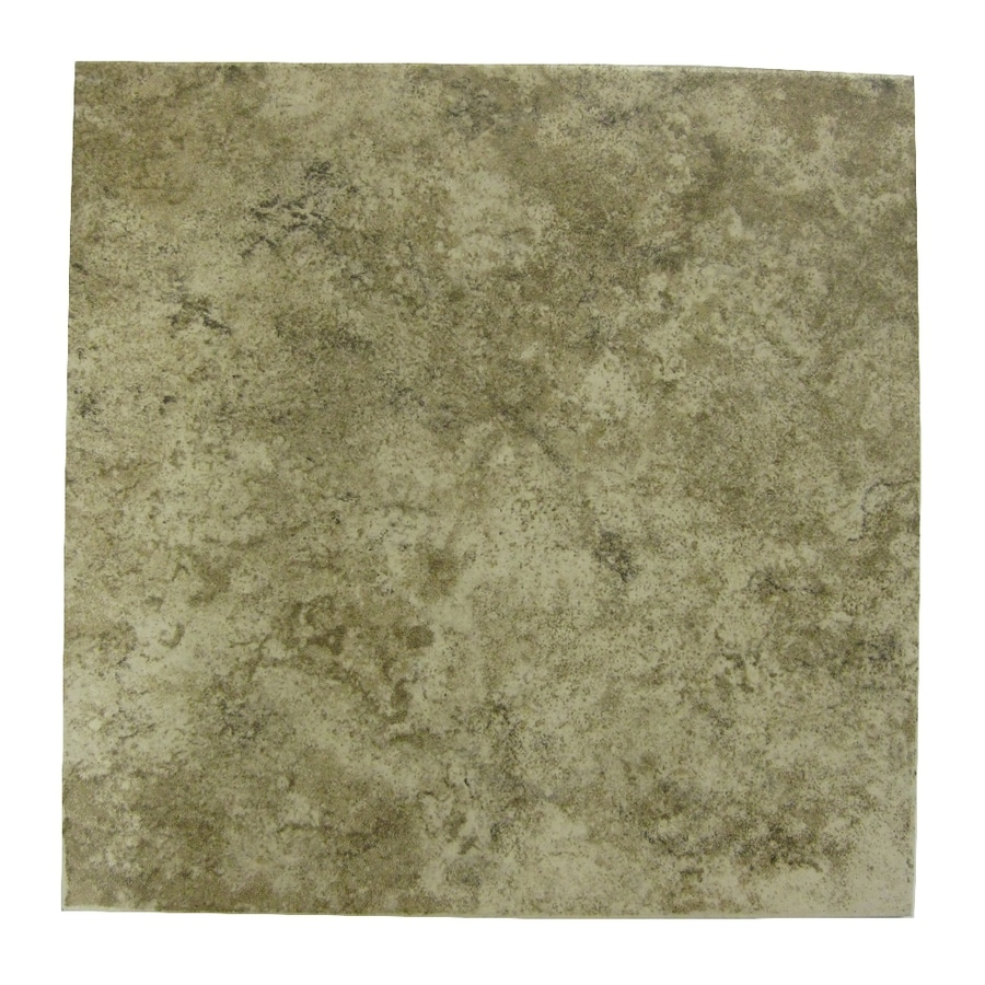 Style Selections Fall Creek Suede Glazed Porcelain Indoor/Outdoor Floor Tile (Common: 12-in x 12-in; Actual: 11.81-in x 11.81-in)