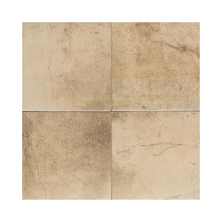 American Olean 8-Pack Costa Rei Oro Miele Ceramic Floor Tile (Common: 18-in x 18-in; Actual: 17.75-in x 17.75-in)