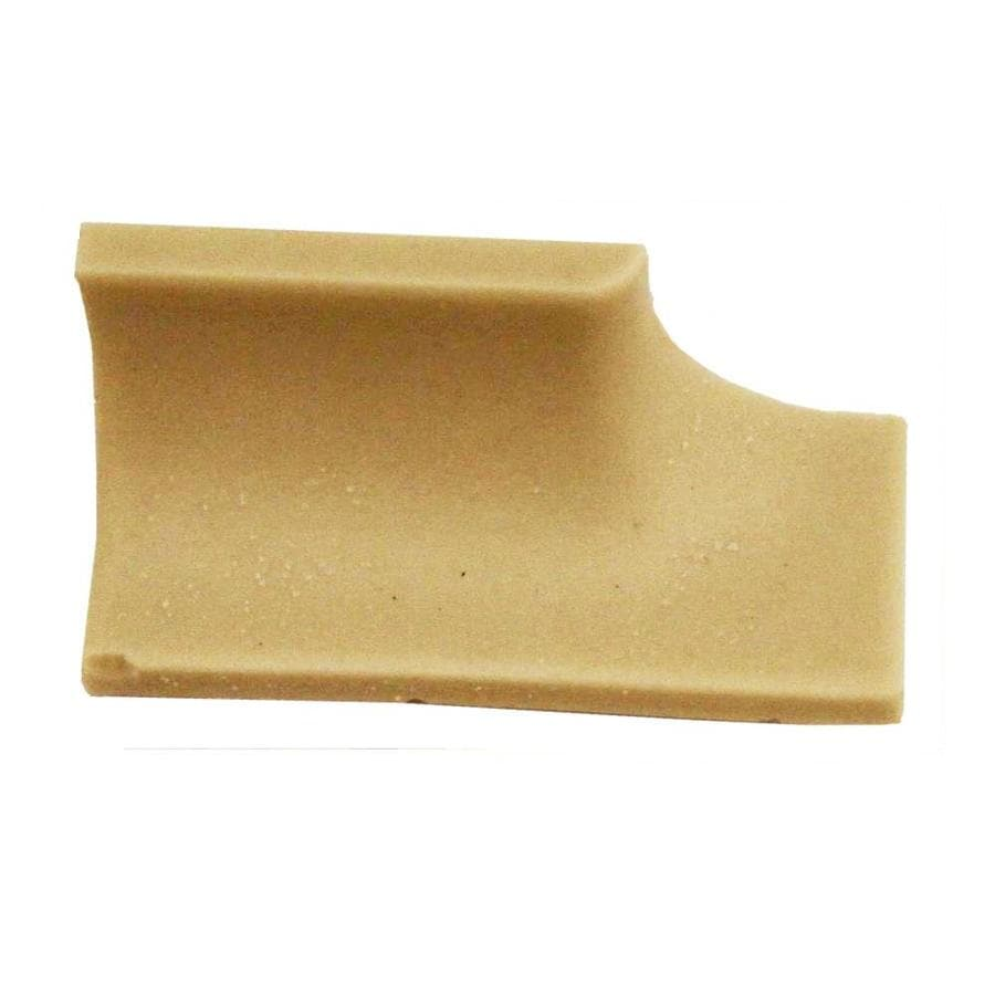 American Olean Unglazed Porcelain Mosaics Biscuit Thru Body Porcelain Bullnose Tile (Common: 2-in x 2-in; Actual: 2-in x 1-in)