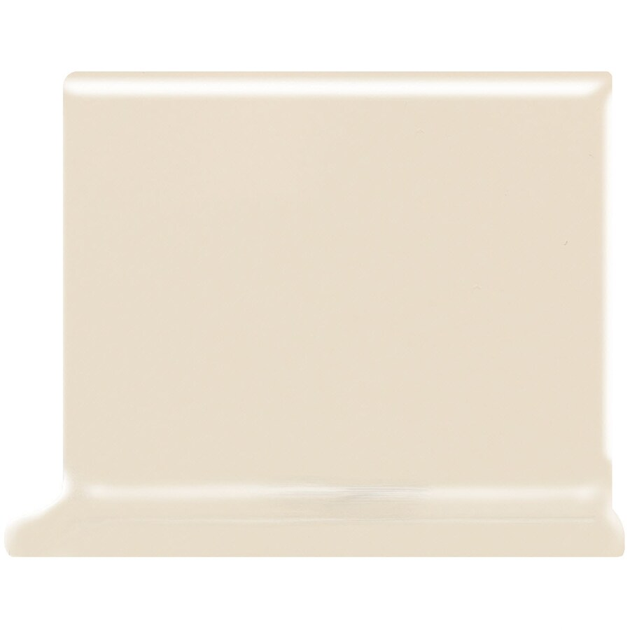 American Olean Bright Gloss Almond Ceramic Cove Base Tile (Common: 4-in x 4-in; Actual: 4.25-in x 4.25-in)