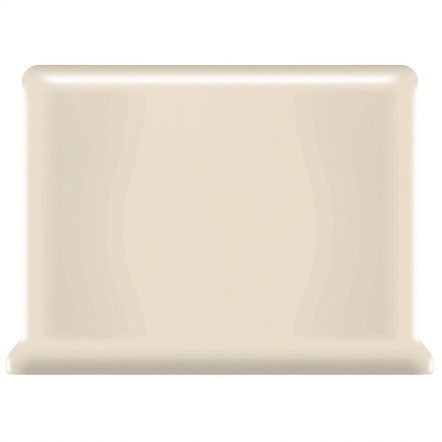 American Olean Bright Gloss Almond Ceramic Cove Base Tile (Common: 4-in x 6-in; Actual: 4.25-in x 6-in)