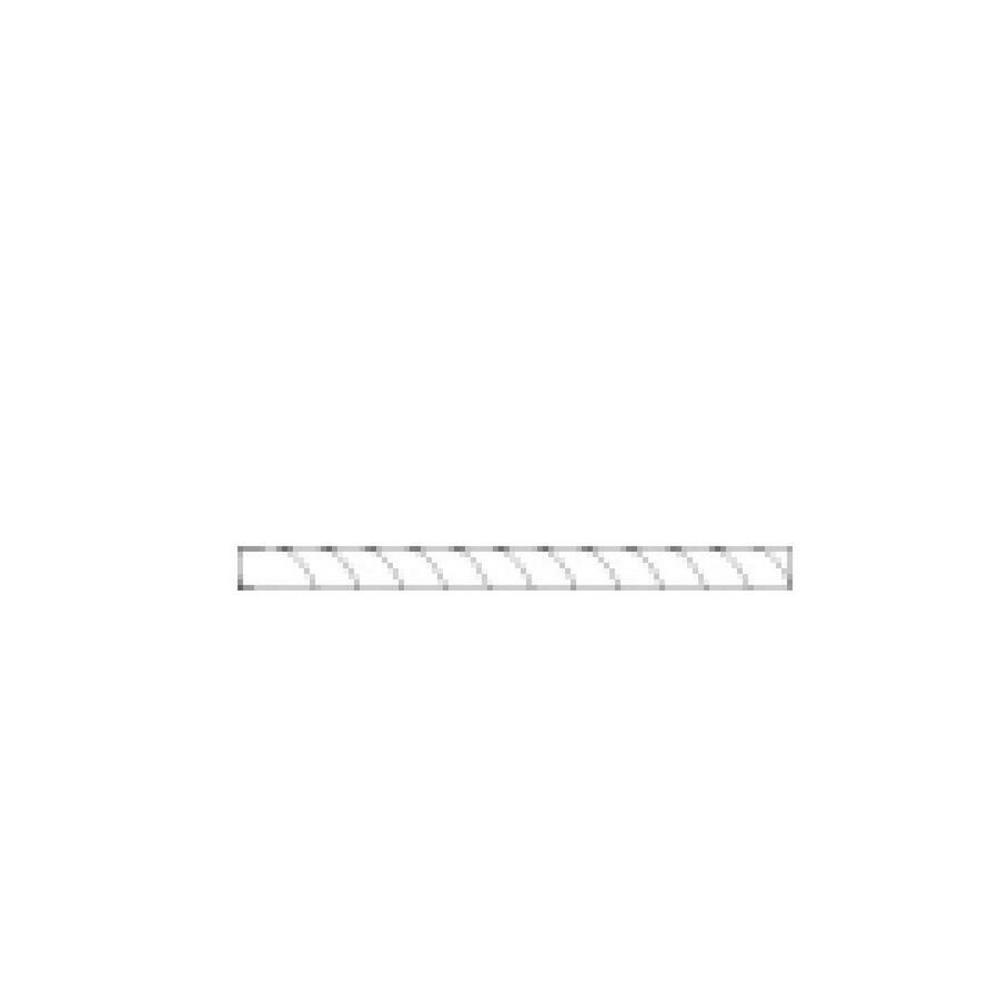 American Olean Bright Black Gloss Ceramic Pencil Liner Tile (Common: 1/2-in x 6-in; Actual: 0.5-in x 6-in)