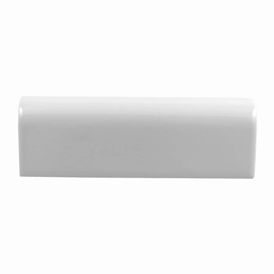 American Olean Starting Line White Gloss Ceramic Chair Rail Tile (Common: 2-in x 6-in; Actual: 2-in x 6-in)