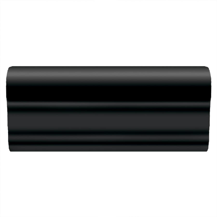 American Olean Linea Gloss Black Ceramic Chair Rail Tile (Common: 2-in x 6-in; Actual: 2-in x 6-in)