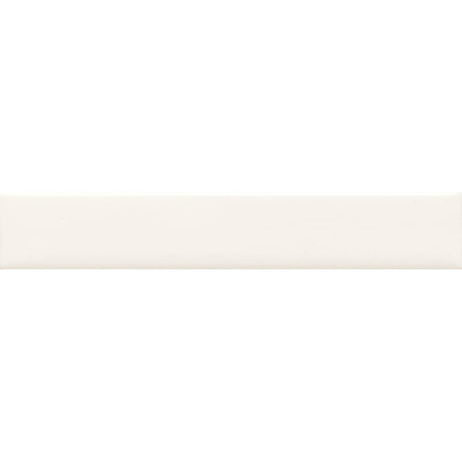 American Olean Starting Line White Gloss Ceramic Pencil Liner Tile (Common: 1/2-in x 6-in; Actual: 0.5-in x 6-in)