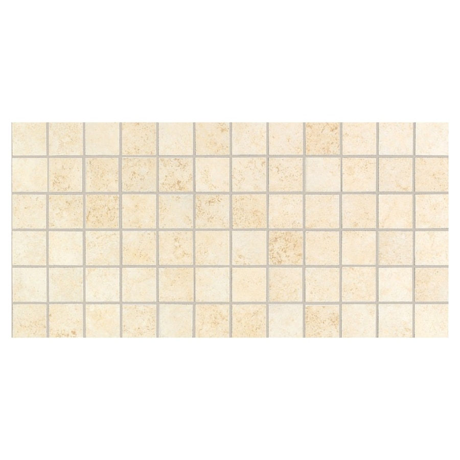 American Olean Lyndhurst Mosaics 12-Pack Mosaics Millstone Uniform Squares Mosaic Ceramic Floor and Wall Tile (Common: 12-in x 24-in; Actual: 12-in x 24-in)