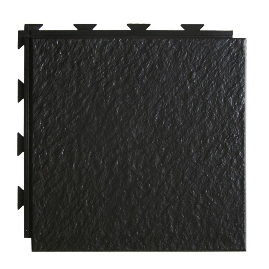 Greatmats HiddenLock 20-Pack 12-in x 12-in Black Loose Lay Slate PVC Plastic Tile