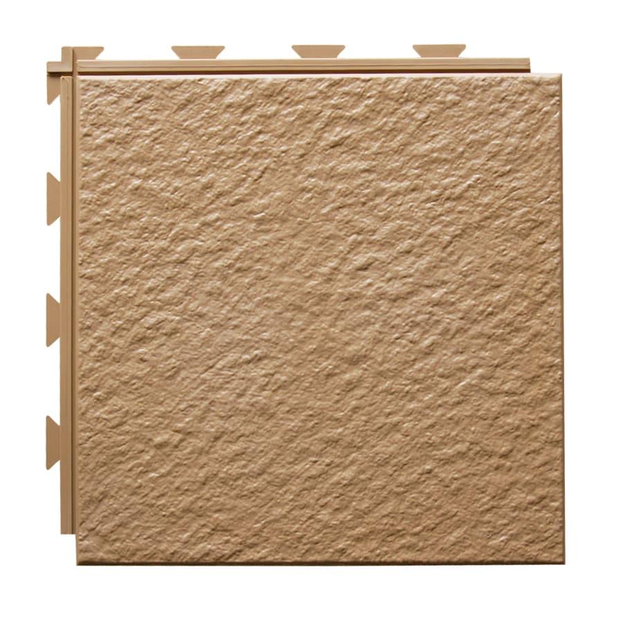 Greatmats HiddenLock 20-Pack 12-in x 12-in Brown Loose Lay Slate PVC Plastic Tile