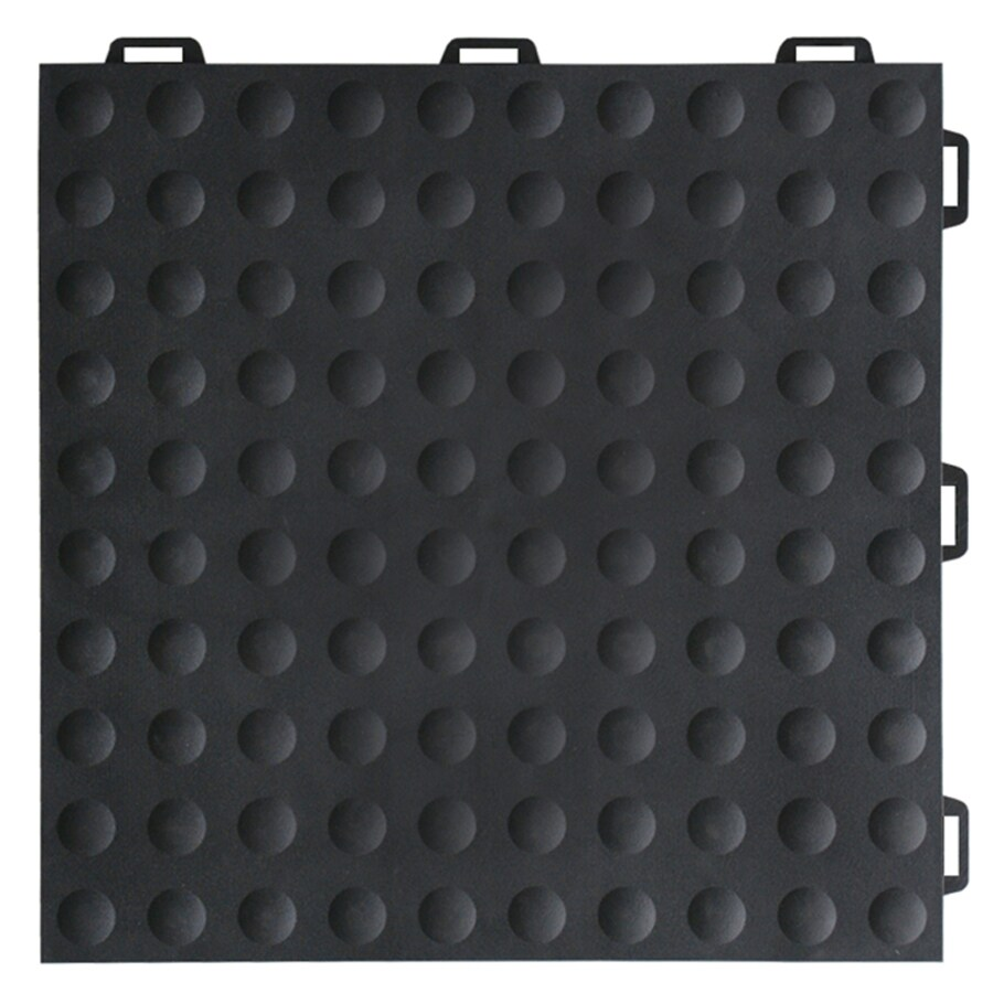Greatmats StayLock 26-Pack 12-in x 12-in Black Loose Lay PVC Plastic Tile Multipurpose Flooring