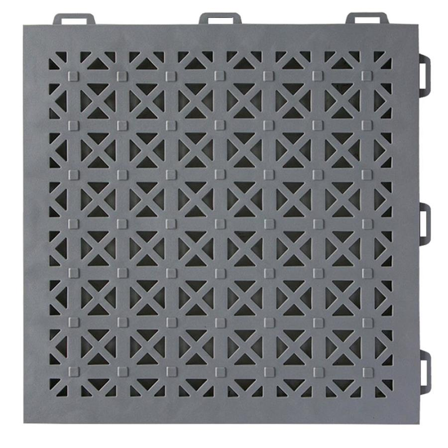 Greatmats StayLock 26-Pack 12-in x 12-in Gray Loose Lay PVC Plastic Tile Multipurpose Flooring
