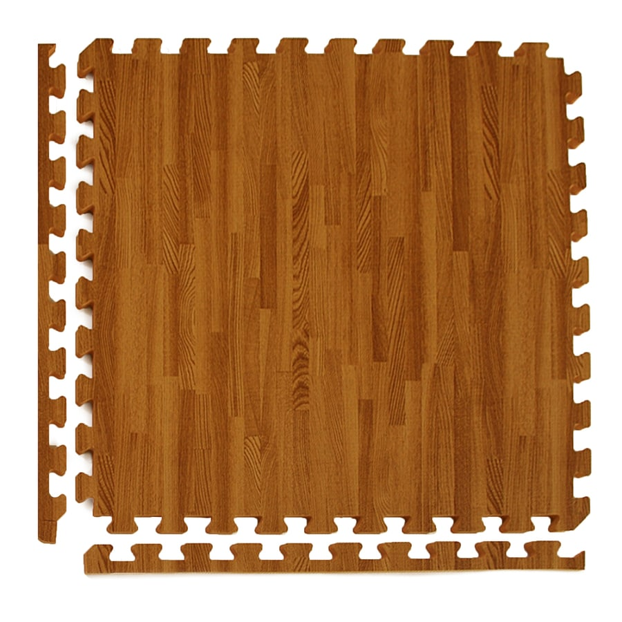 Greatmats 25-Pack 24-in x 24-in Dark Woodgrain Loose Lay Wood Foam Tile Multipurpose Flooring
